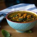 Špenátovo-dýňová polévka